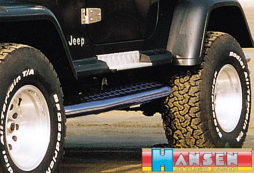 Flankenschutz trittbretter jeep wrangler yj 86 96 - Edelstahlrohr durchmesser tabelle ...