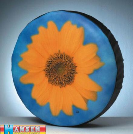 folie sonnenblume f r reifencover reserveradabdeckung. Black Bedroom Furniture Sets. Home Design Ideas