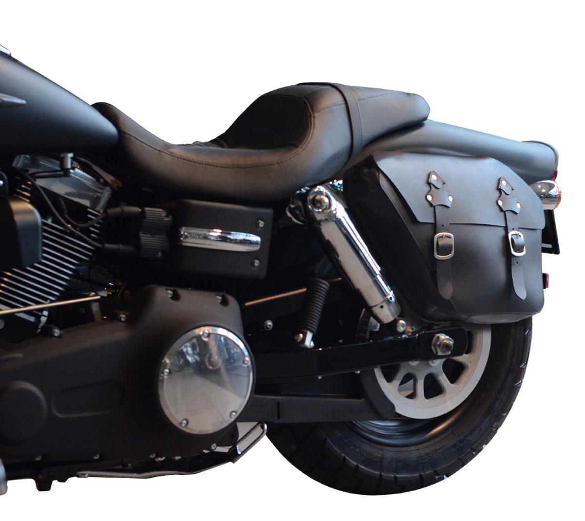 leather saddlebag harley davidson dyna sport wide glide. Black Bedroom Furniture Sets. Home Design Ideas