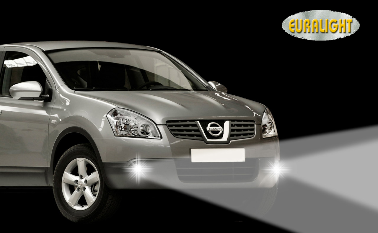 led tagfahrlicht nissan qashqai 2007 bis 2010 passgenau. Black Bedroom Furniture Sets. Home Design Ideas