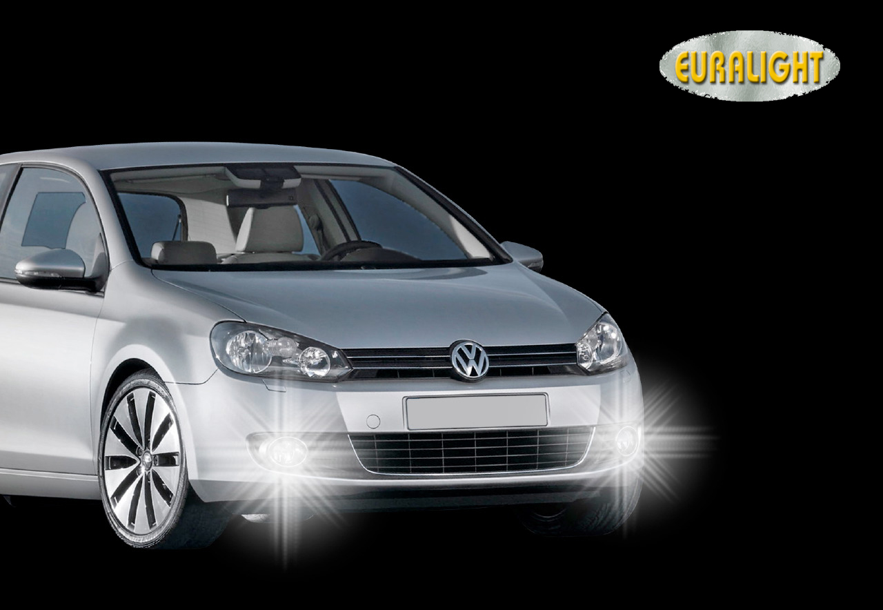 led tagfahrlicht vw golf 6 vi ab 08 tagfahrleuchten. Black Bedroom Furniture Sets. Home Design Ideas