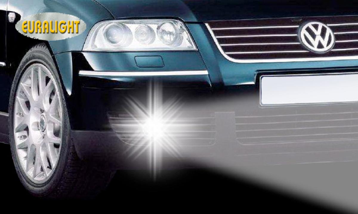 led drl daytime running lights volkswagen vw passat 3bg 2000 2005 ebay. Black Bedroom Furniture Sets. Home Design Ideas