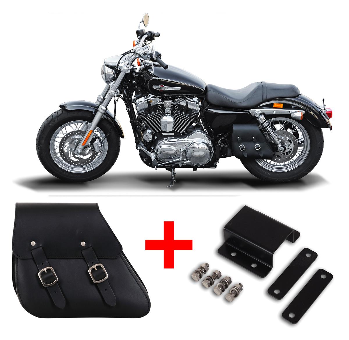 Buffalo Bag Schwingentasche + Halterung 7 L Harley Sportster ...