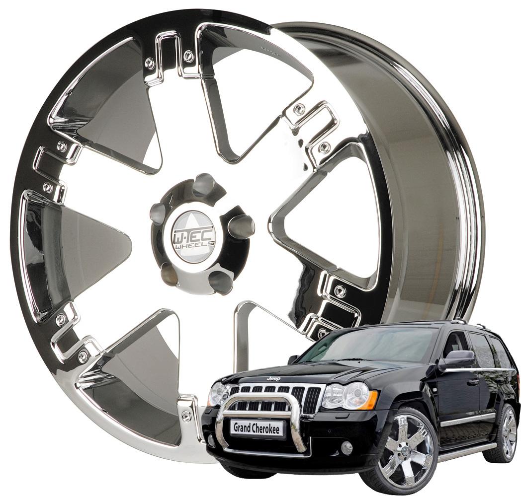 4x alufelgen 9x22 jeep grand cherokee wh 2005 2010 felgen. Black Bedroom Furniture Sets. Home Design Ideas