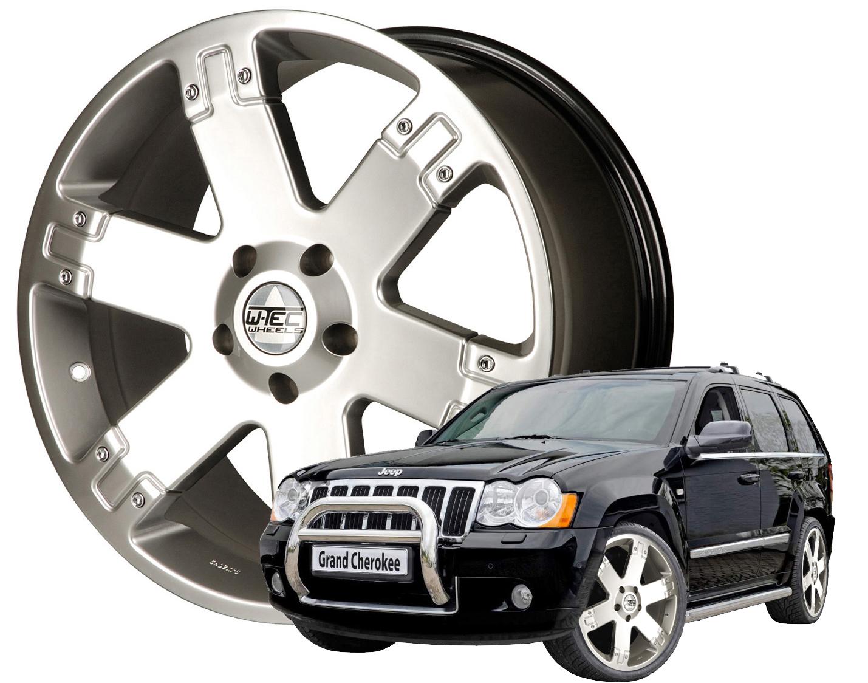 6x alufelgen 9x22 jeep grand cherokee wh 2005 2010 felgen. Black Bedroom Furniture Sets. Home Design Ideas