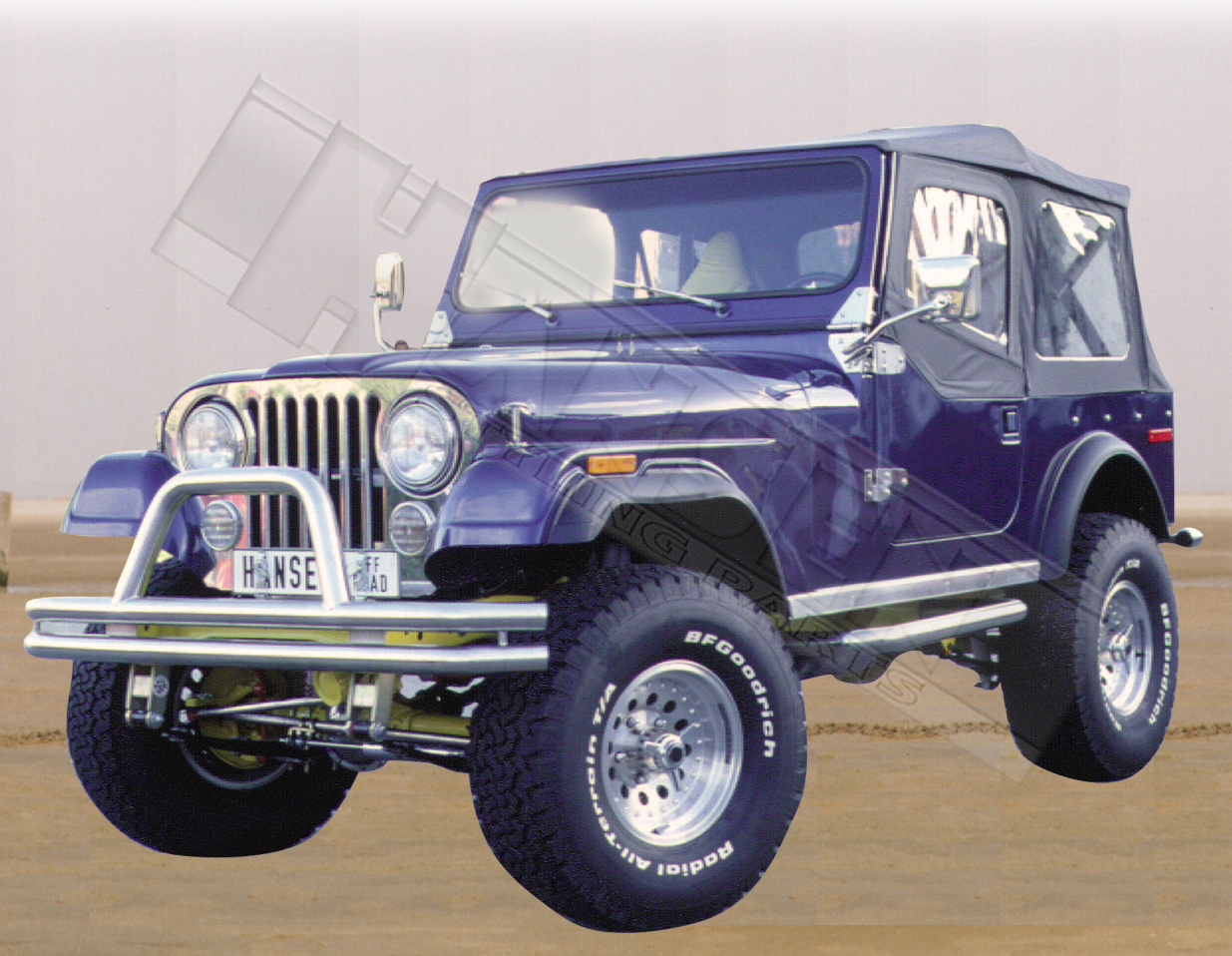 Jeep Wrangler Yj 1986 1996 Frontb 252 Gel Ramme Front