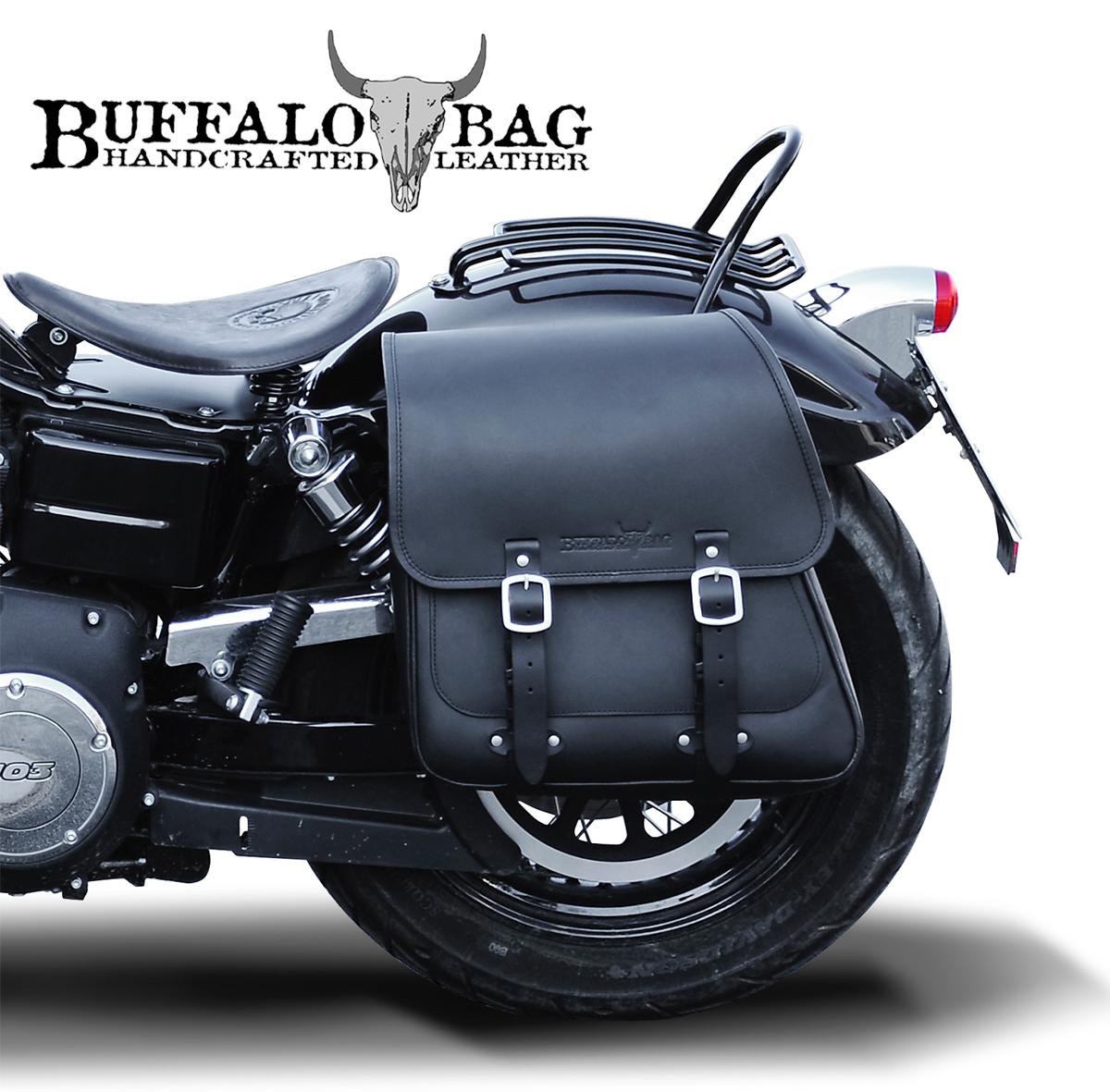 25l saddlebag harley dyna street bob fat bob 2017 buffalo. Black Bedroom Furniture Sets. Home Design Ideas