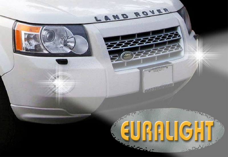 2in1 LED Tagfahrlicht + LED Nebelscheinwerfer Land Rover Freelander ...